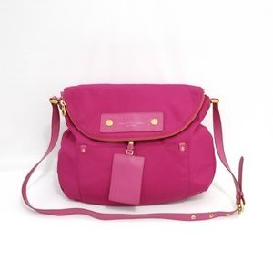 Mark by Mark Jacobs Nylon Leather Trim Pink Bag